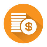 Large Coins Icon great for any use, Vector EPS10. Stock Images