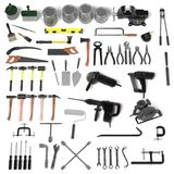 Large colection of tools Stock Photography