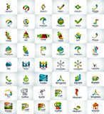 Large collection of abstract geometric logo business icons Stock Image