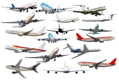 Large collection of aircraft. Royalty Free Stock Photography