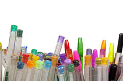 Large Collection of Brightly Colored Pens Stock Images