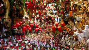 Large Collection of Christmas Decorations stock image