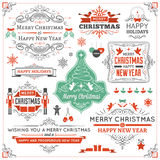 Large Collection of Christmas Design Elements Stock Images