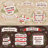 Large Collection of Christmas Design Elements Royalty Free Stock Photos