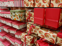 Large Collection of Gift Boxes Royalty Free Stock Photos