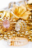 Large collection of jewellery Stock Photography