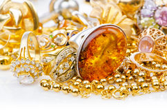 Large collection of  jewellery Royalty Free Stock Image
