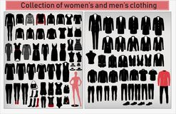 A large collection of men`s and women`s clothing Royalty Free Stock Photography