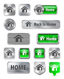 Web elements with home sign Royalty Free Stock Image