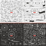 Large Collection Of Hand Drawn Vector Design Elements Royalty Free Stock Images