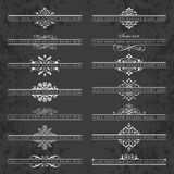 Large collection of ornate headpieces on a chalkboard background Royalty Free Stock Photography