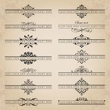 Large collection of ornate headpieces - vector set Royalty Free Stock Image