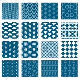 Large collection of seamless Japanese patterns. Geometric vector backgrounds for your design Stock Image