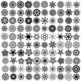 Large collection with symmetrical ornaments Royalty Free Stock Photos