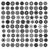 Large collection with symmetrical ornaments or mandalas Royalty Free Stock Photos