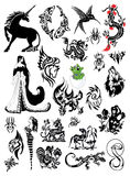 A large collection of tattoos Stock Images
