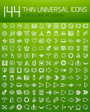 Large collection of thin universal web icon set Stock Photography