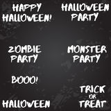 Large collection of typographic Halloween designs  Stock Photos