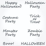 Large collection of typographic Halloween designs Stock Images
