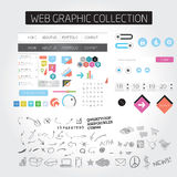 Large collection of web graphics Royalty Free Stock Photography