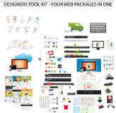 Large collection of web graphics Stock Image