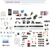 Large collection of web graphics. And icons Stock Images