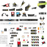 Large collection of web graphics Royalty Free Stock Images