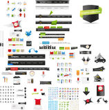 Large collection of web graphics Stock Images