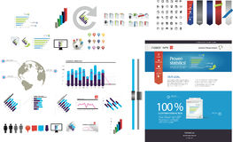 Large collection of web graphics Stock Photo