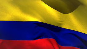 Large colombia national flag waving stock video