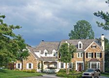 Large Colonial House. A very large colonial house in the suburbs in Pennsylvania Stock Images