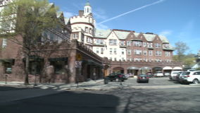 Large colonial style hospital (2 of 2) stock footage