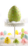 Large colored easter egg with feathers Royalty Free Stock Image