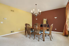 Large colorful dining room Royalty Free Stock Photography