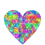 Large colorful mosaic heart Royalty Free Stock Images