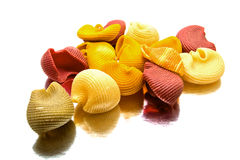 Large colorful pasta isolated Royalty Free Stock Photo