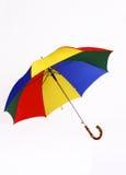 Large colorful picnic umbrella Stock Photos