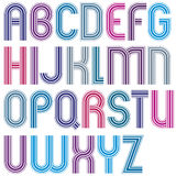 Large colorful uppercase letters with rounded corners, parallel Royalty Free Stock Photos
