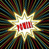 Comic Book Style Graphic with Power Word POWER n Star Burst Royalty Free Stock Image