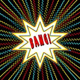 Comic Book Style Graphic with Power Word wham n Star Burst Royalty Free Stock Photo