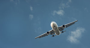 Large Commercial Airliner Coming In To Land Royalty Free Stock Photos