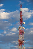 Large Communication tower against sky Royalty Free Stock Images