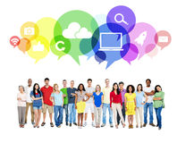 Large Community Social Networking Concept Royalty Free Stock Photos