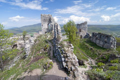 Large complex of ruin castle Stock Images