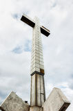 Large concrete cross seen from a low perspective Stock Photos