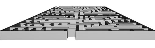 Large concrete 3D maze structure Stock Photography