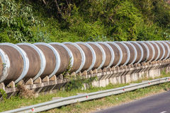 Large Concrete Drain Pipe Section Stock Photos