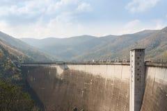 Large concrete reservoir dam Stock Photo