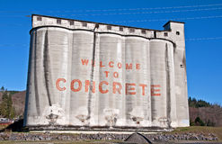 Town of Concrete, WA Silo Sign Royalty Free Stock Images