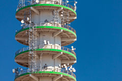 Large concrete telecommunication tower Stock Photo
